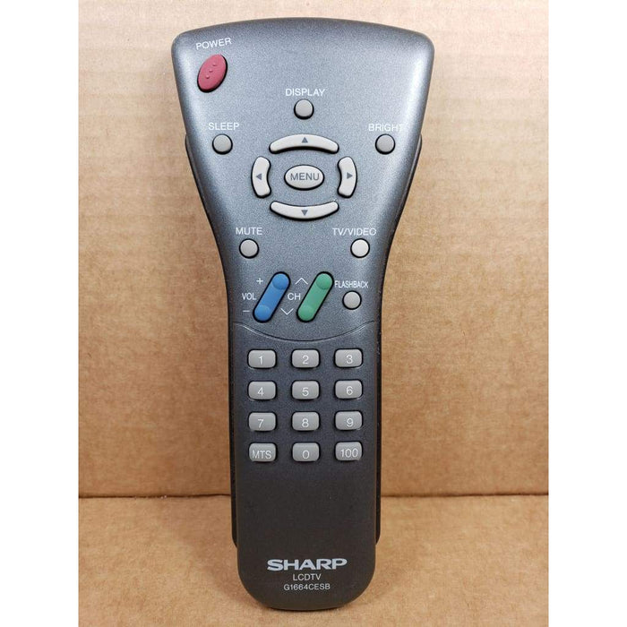 Sharp G1664CESB TV Remote Control - Remote Control
