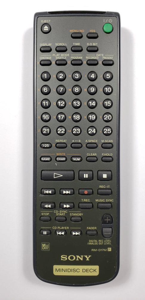 Sony RM-D17M MiniDisc Remote Control