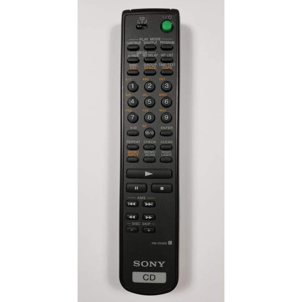 Sony RM-DX300 Audio System Remote Control - Remote Control