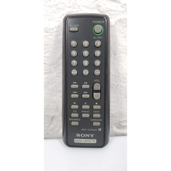 Sony RMT-CZW200 Audio Remote for CFD-ZW150 CFD-ZW160 CFD-ZW200 etc - Remote Control