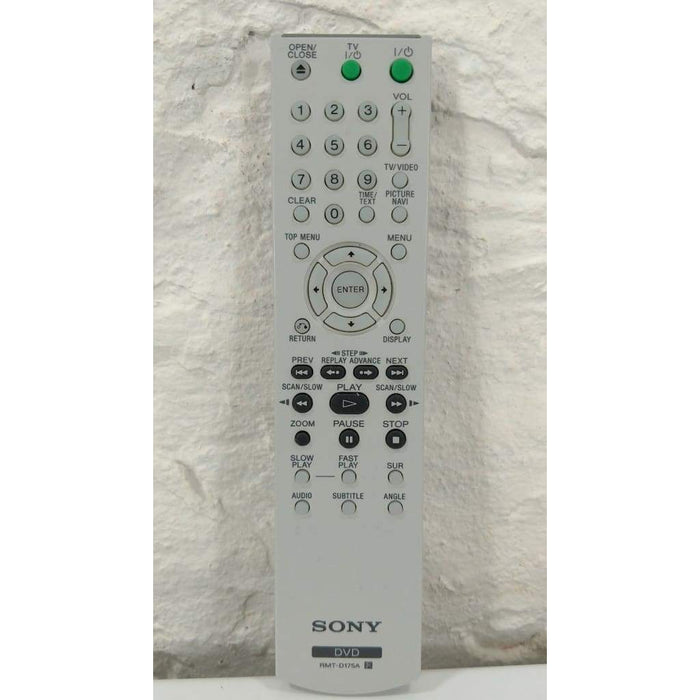 Sony RMT-D175A DVD Player Remote Control - Remote Controls