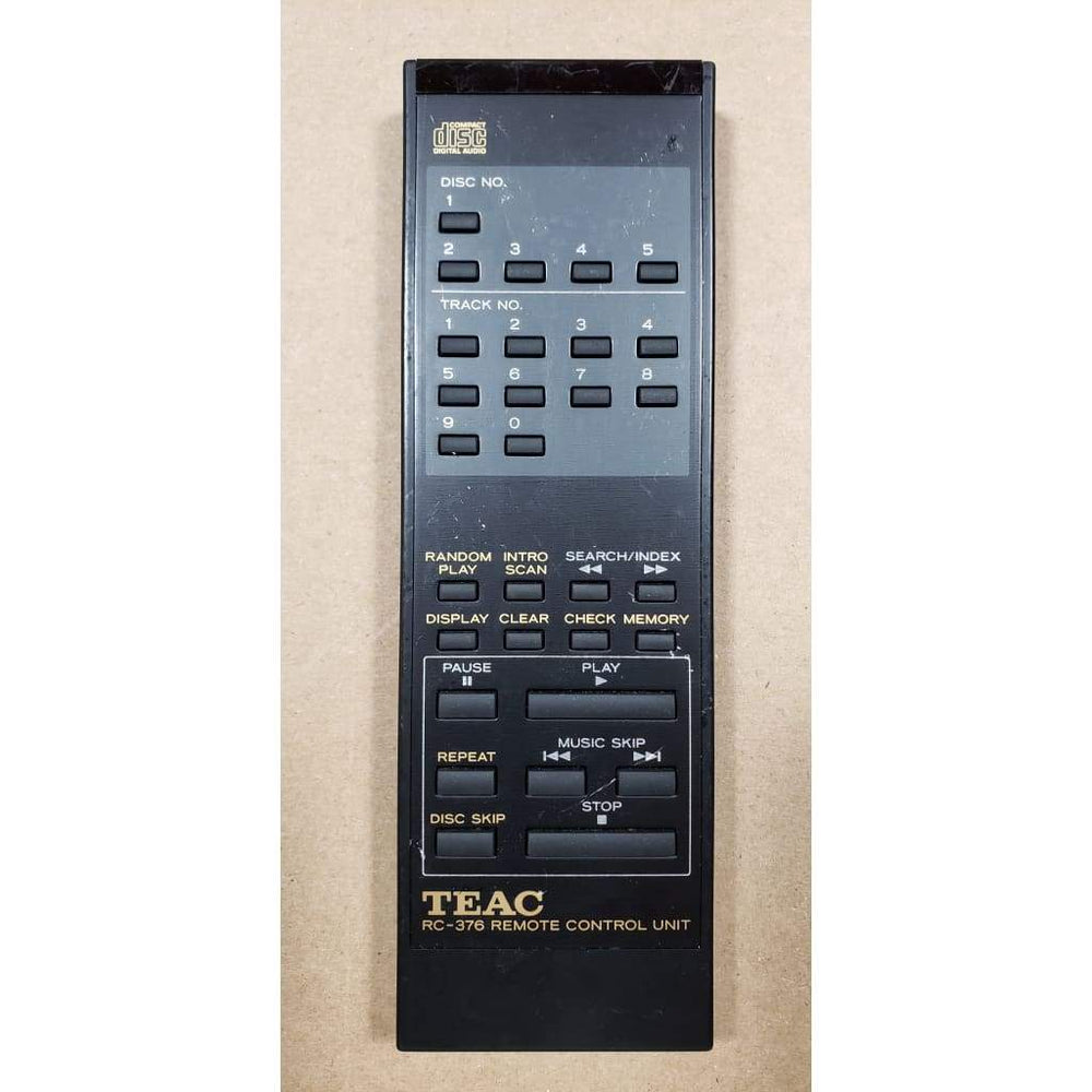 TEAC RC-376 CD Player Remote Control - Remote Controls