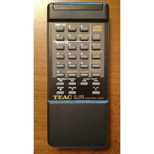 TEAC RC-452 Remote for CD Player Compact Disc Changer - Remote Control