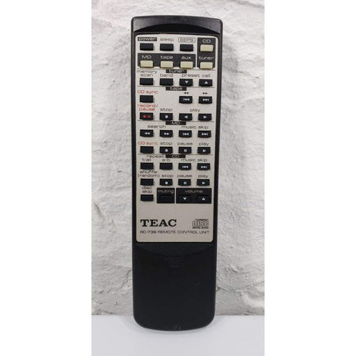 TEAC RC-738 Audio Remote Control for EXCD3 MCD90 CRH130 MCD85 - Remote Control