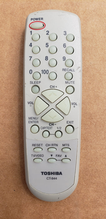 Toshiba CT-844 TV Remote Control
