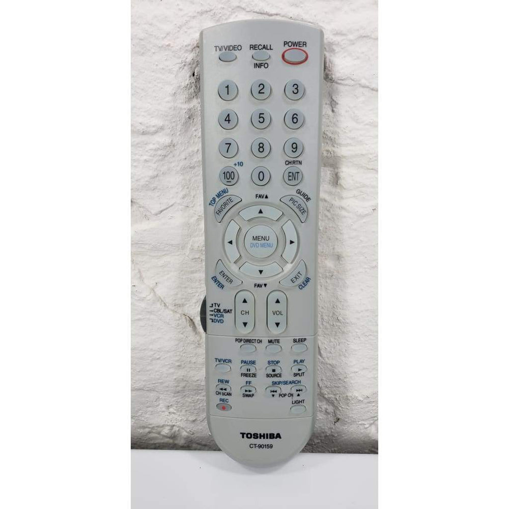 Toshiba CT-90159 TV Remote for 27HL85 30H83 30HF83 30HF83C 32HF73 32HL85 etc. - Remote Control