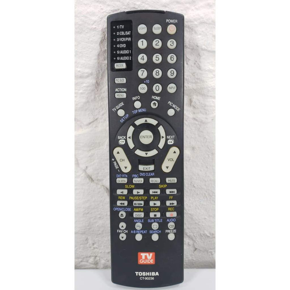 Toshiba CT-90236 TV Guide Remote for 27HLV95 32HLX95 37HLX95 - Remote Control
