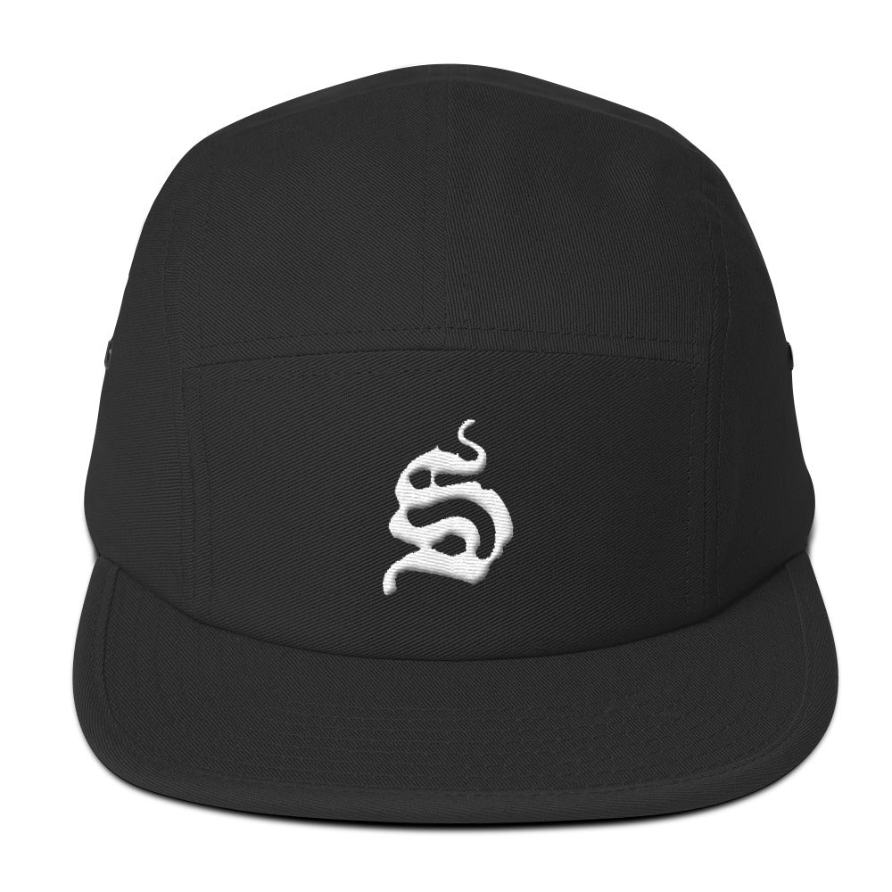 S Five Panel Cap - Black Hat - Sportsball Supply Co.