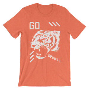 Go Sports Tiger Head - Unisex Tee - T-Shirt - Sportsball Supply Co.