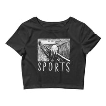 The Scream - Womens Crop Tee -  - Sportsball Supply Co.