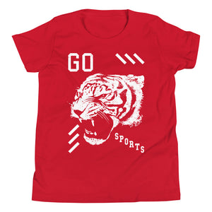 Go Sports Tiger Head Youth T-Shirt - T-Shirt - Sportsball Supply Co.