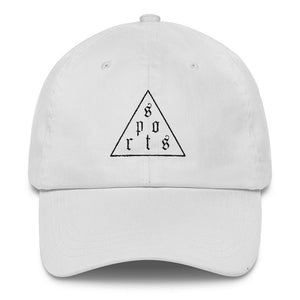 Triforce Classic Dad Cap (Black Thread) - White Hat - Sportsball Supply Co.