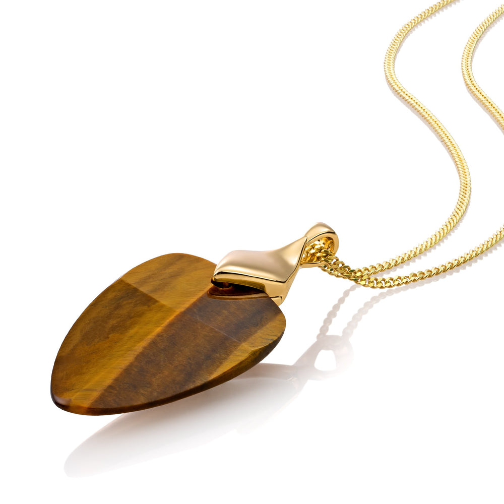 Edge ketting set - Tiger Eye