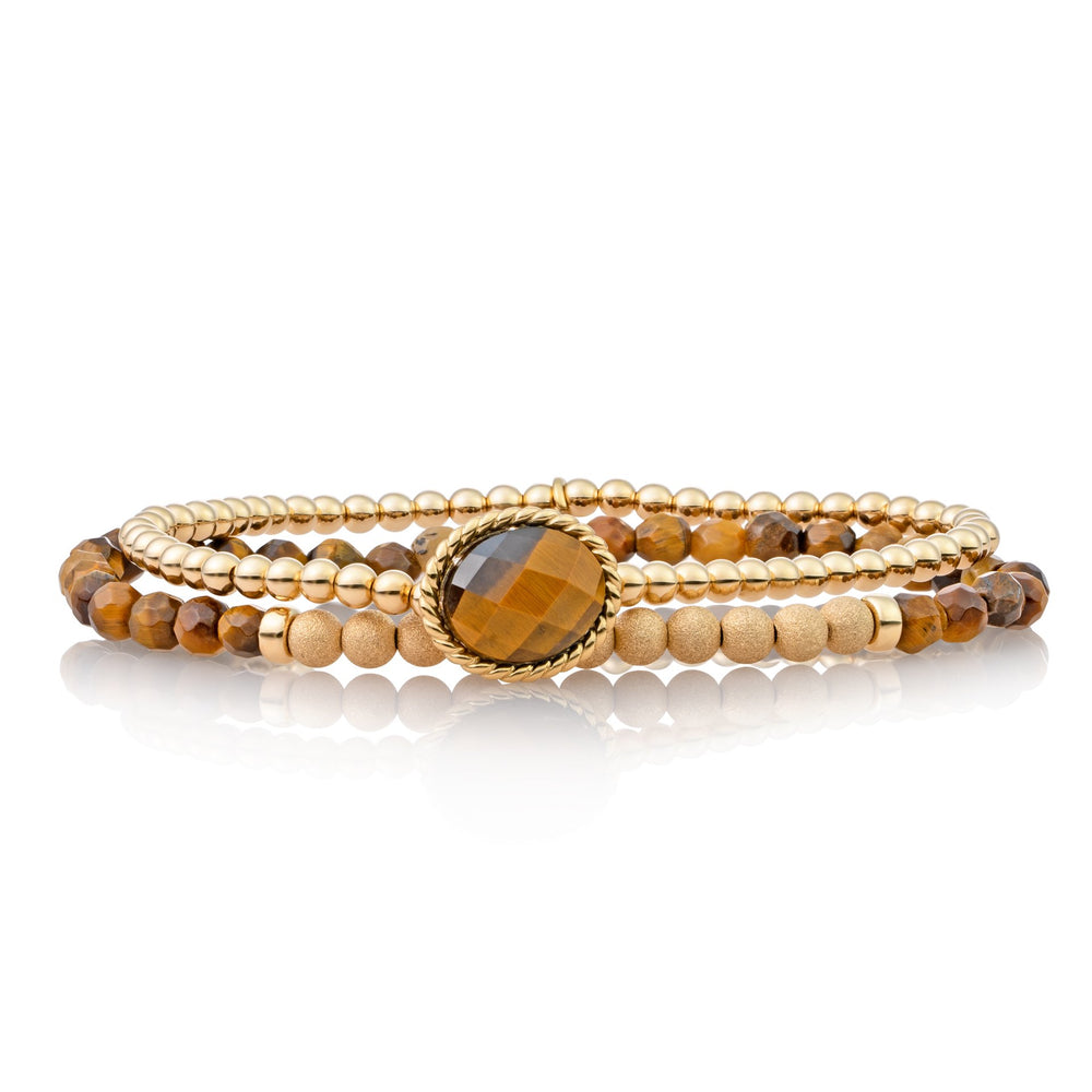Armbanden stack - Tiger Eye II