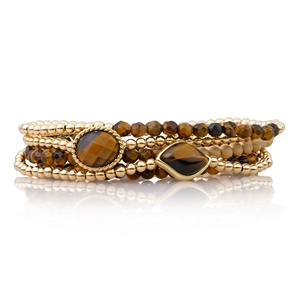 Armbanden stack - Tiger Eye IV