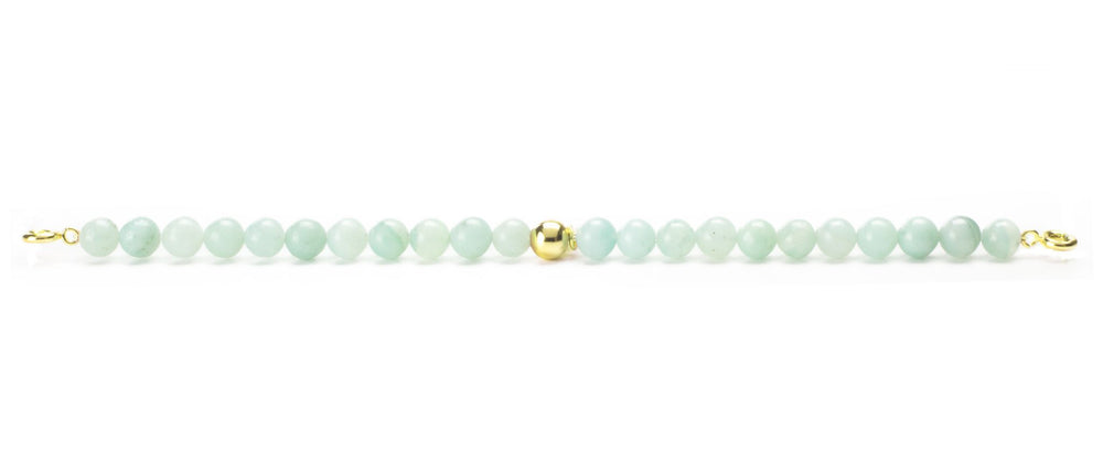 Amazonite Orbit Bracelet with clasps - 6MM - Sparkling Jewels