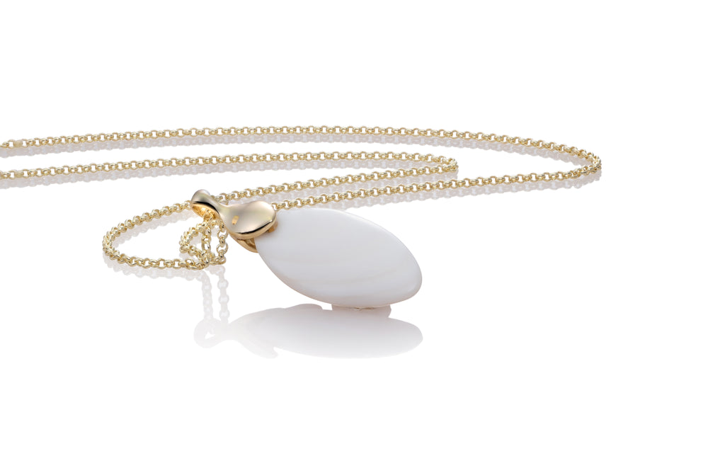 Leaf Ketting set - Mother of Pearl III