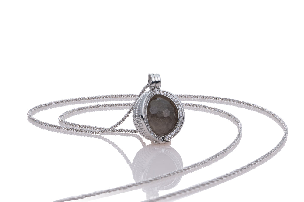 Starburst ketting set - Smoky Quartz