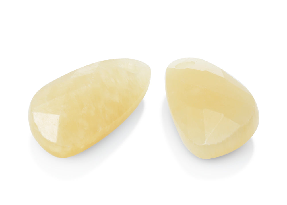 Yellow Calcite - Supernova eardrops - Sparkling Jewels