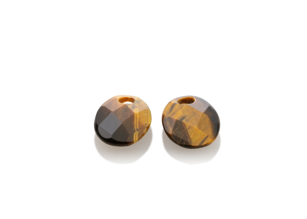 Tiger Eye - Twist oval oorbel edelstenen