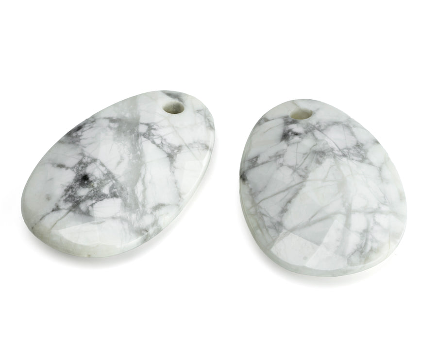Howlite - Big Bang eardrops - Sparkling Jewels