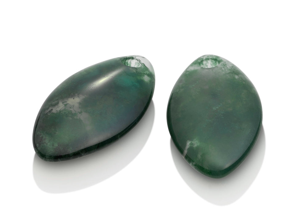 Moss Agate - Leaf medium edelstenen