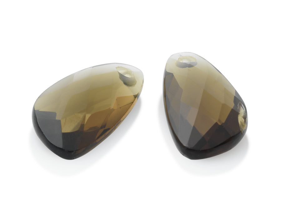 Smokey Quartz - Supernova eardrops - Sparkling Jewels