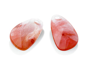 Cherry Quartz - Asymmetric Drop