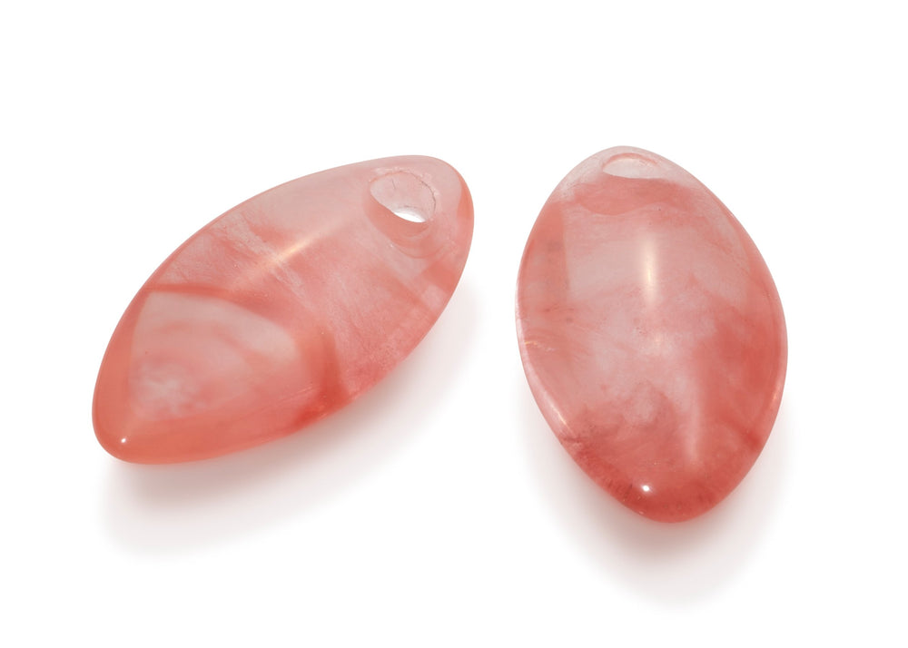 Cherry Quartz - Leaf medium edelstenen