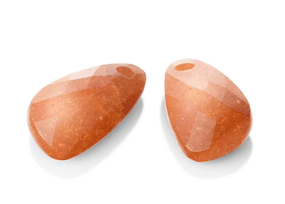 Red Aventurine - Supernova eardrops - Sparkling Jewels