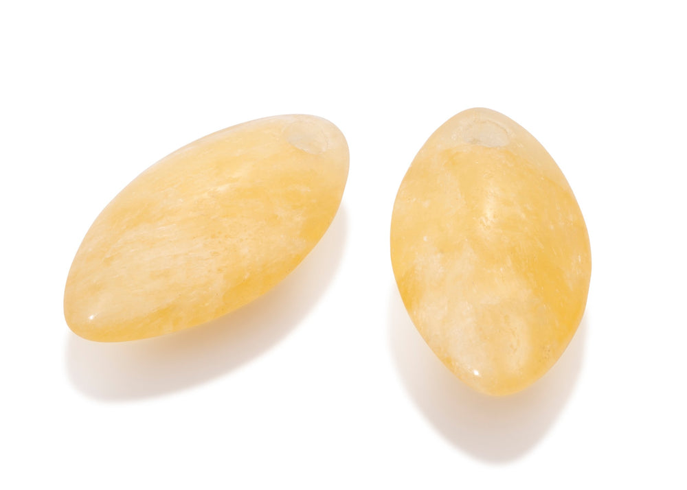 Yellow Jade - Leaf medium edelstenen
