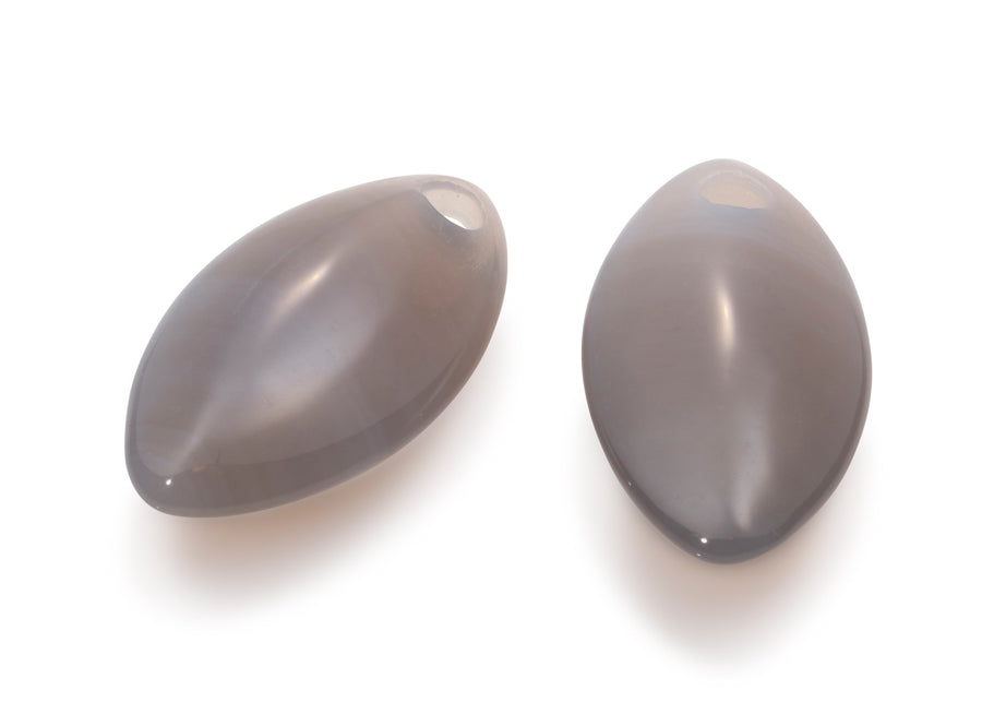 Grey Agate - Leaf Medium eardrops