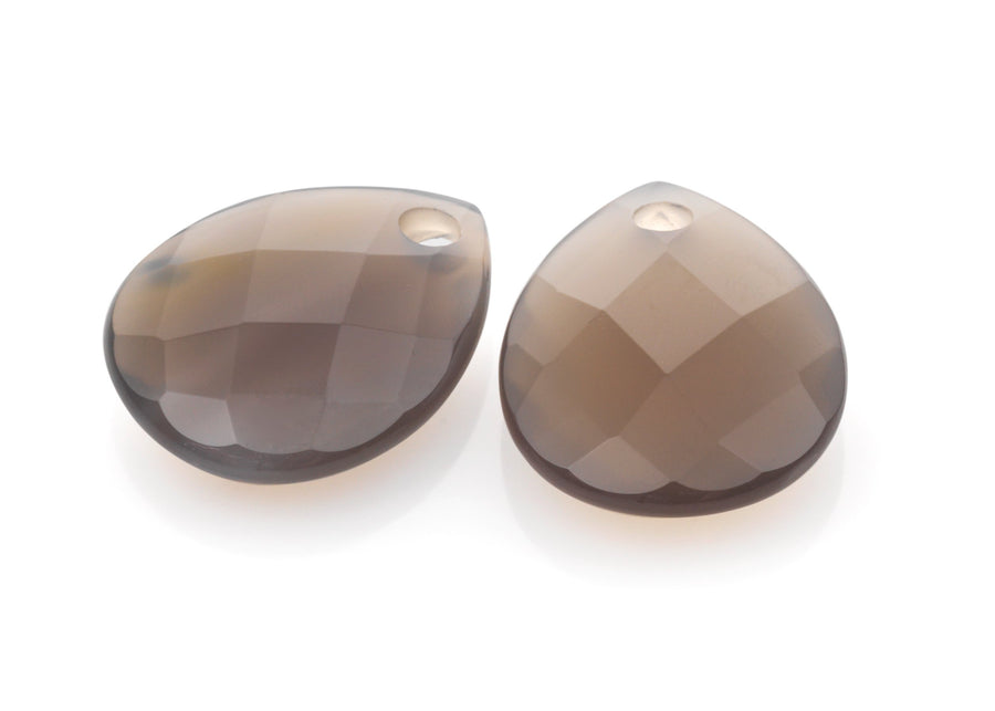 Grey Agate - Afterglow eardrops - Sparkling Jewels