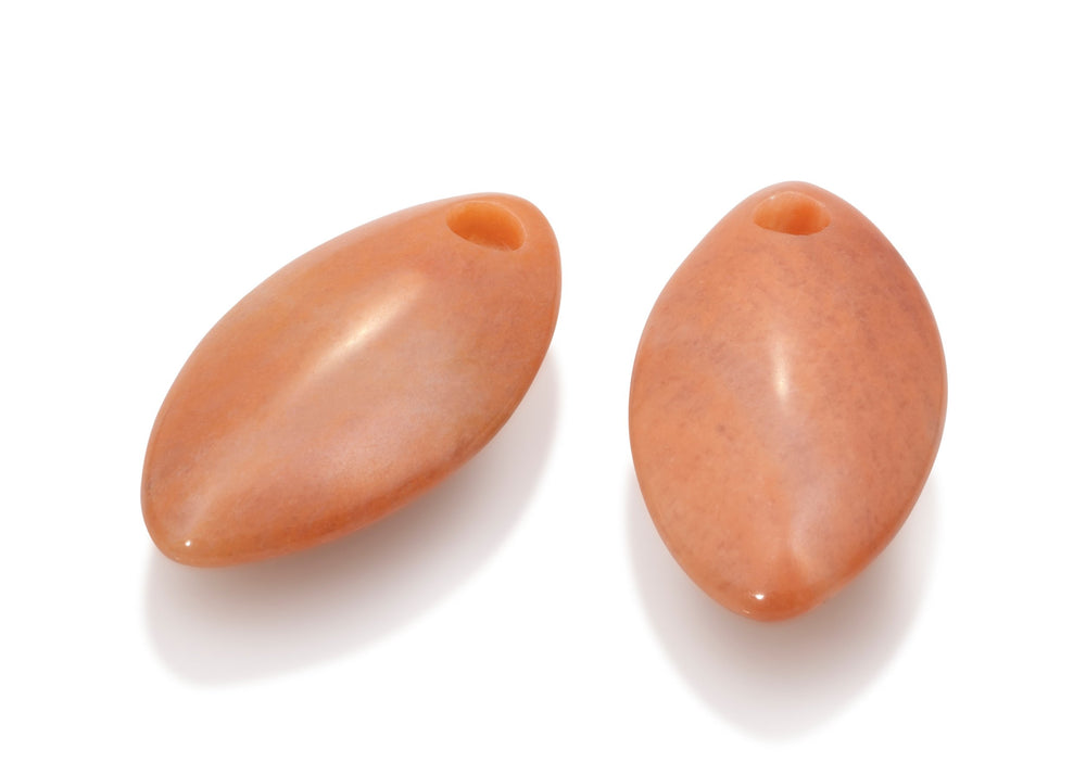 Peach Rhodonite - Leaf medium edelstenen