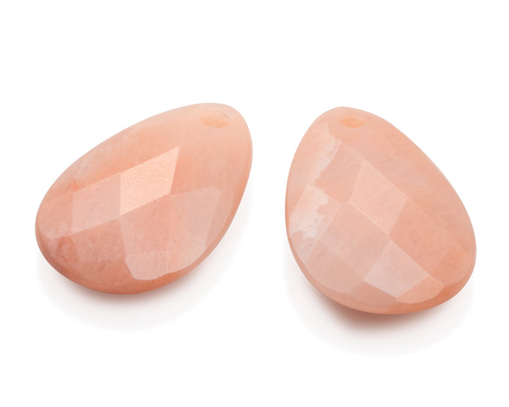 Peach Rhodonite - Big Bang eardrops