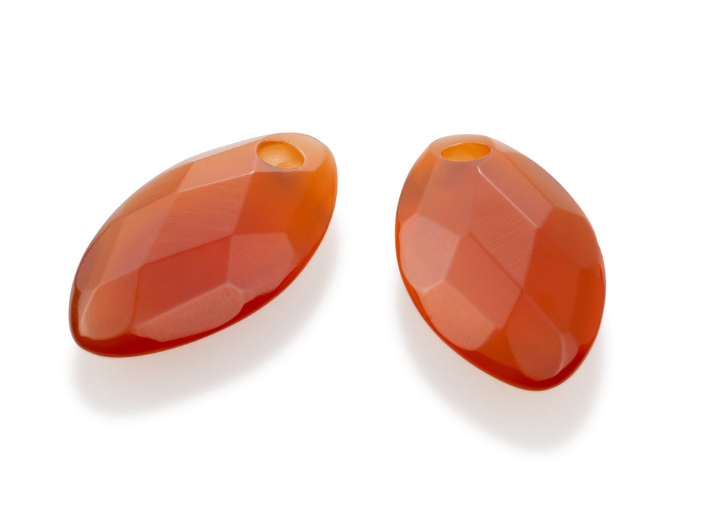 Red Agate - Leaf small edelstenen