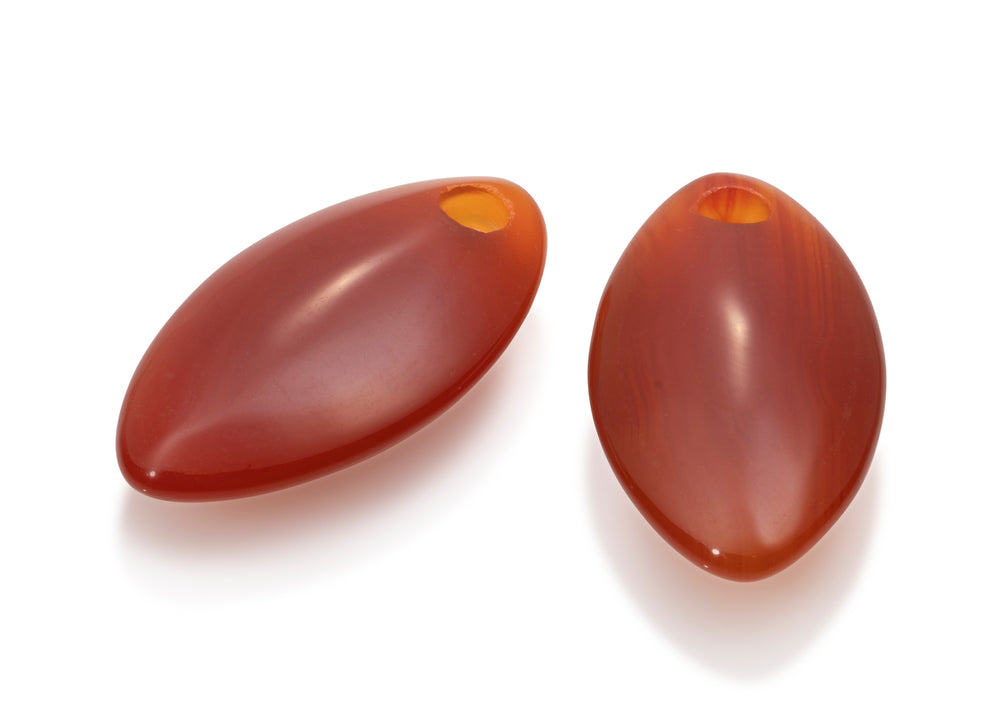 Leaf Oorbellen set - Red Agate