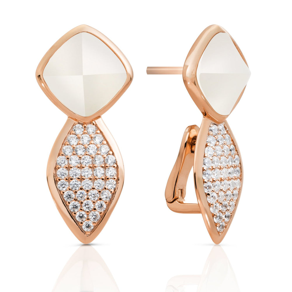 Edge Crystal Pearl Oorstekers