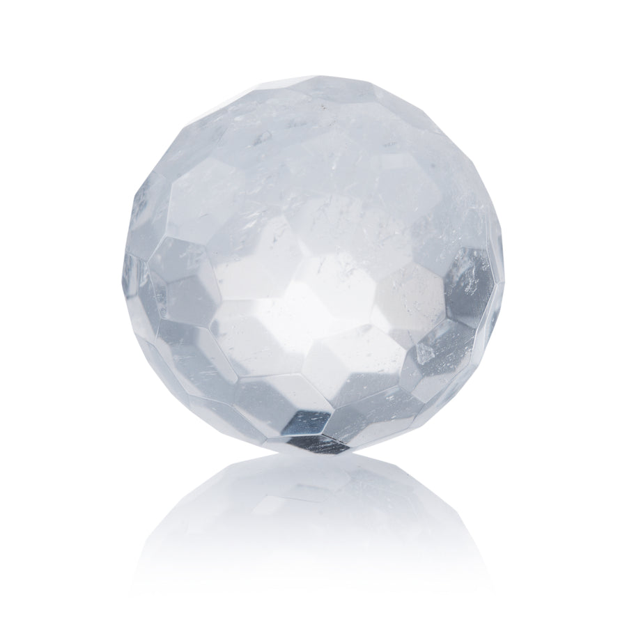 Mountain Crystal - 14mm Facet - Sparkling Jewels