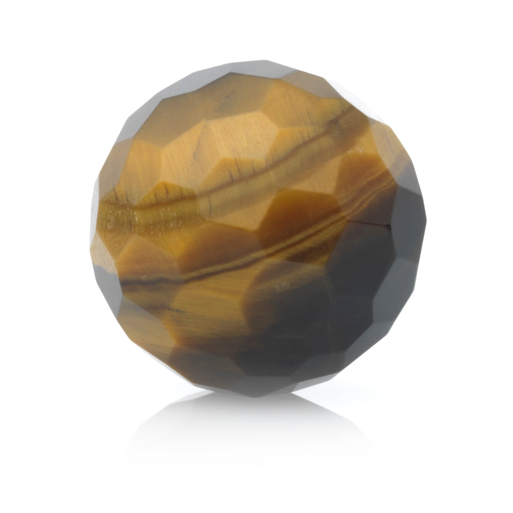 Tiger Eye - 14MM Facet - Sparkling Jewels