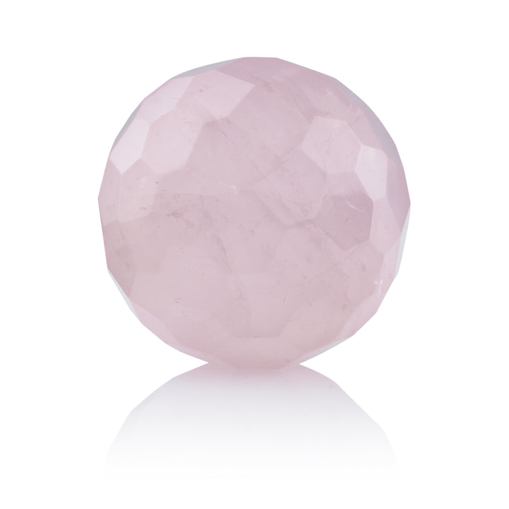 Rose Quartz - 14mm Facet - Sparkling Jewels