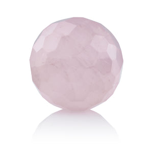 Rose Quartz - 20mm Facet - Sparkling Jewels