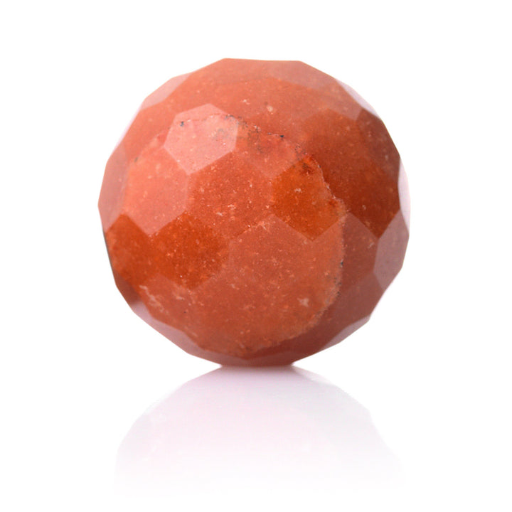 Red Aventurine - 20mm Facet - Sparkling Jewels