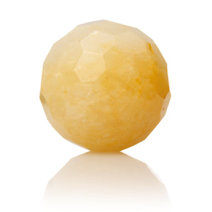 Yellow Jade - 20mm Facet - Sparkling Jewels
