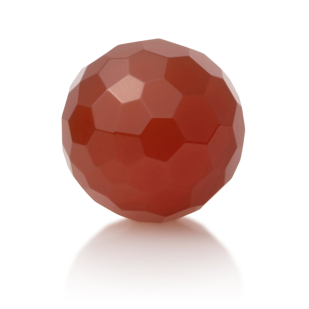 Red Agate - 20mm gefacetteerd