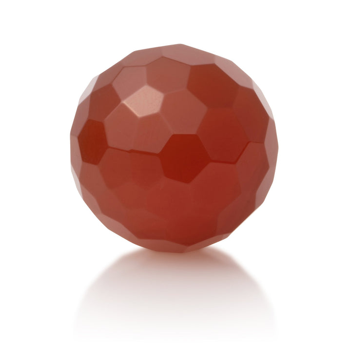 Red Agate - 20mm Facet