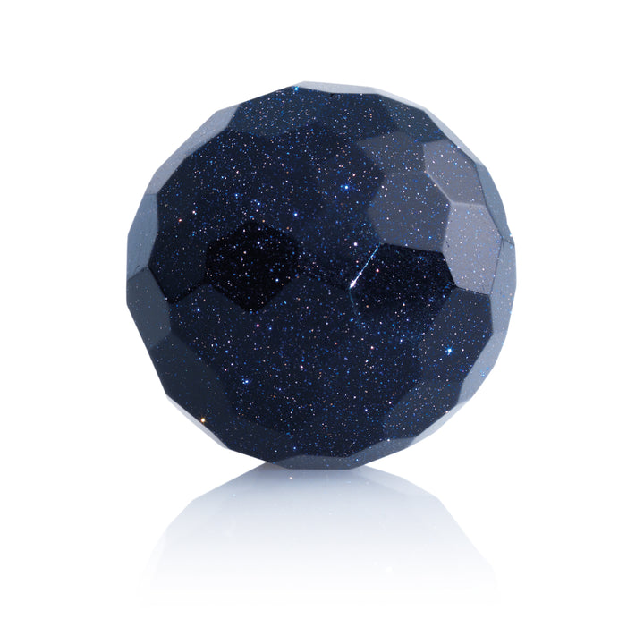 Blue Goldstone - 14mm Facet