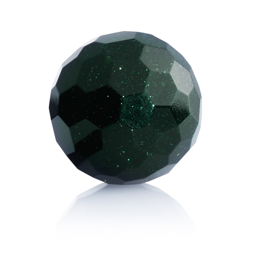 Green Goldstone - 20MM Facet - Sparkling Jewels