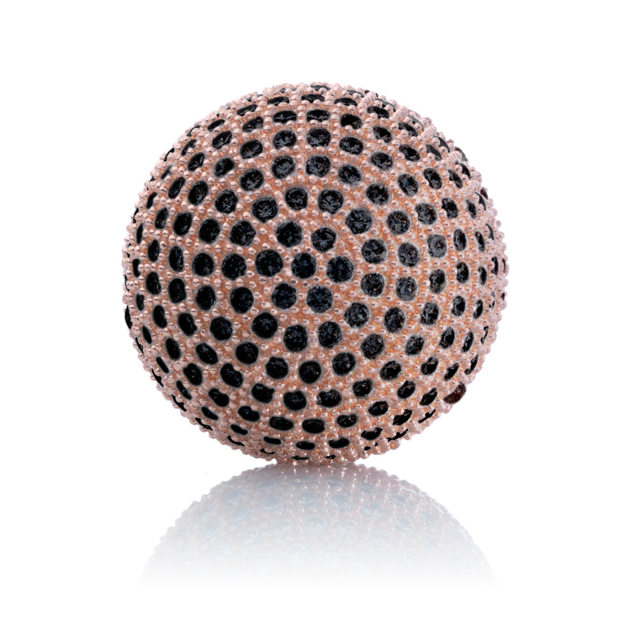 Polaris Rose Gold Black - 14mm - Sparkling Jewels