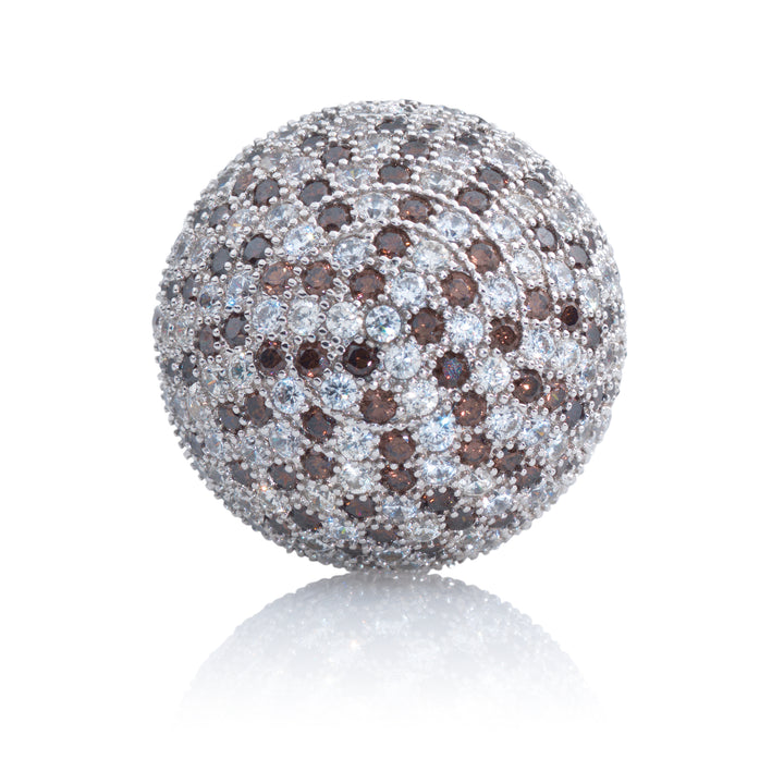 Polaris Silver Brown Flame - 14mm - Sparkling Jewels